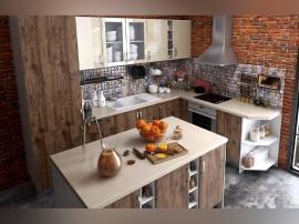 Готова ъглова кухня с цял термоплот Хит и Елит 17