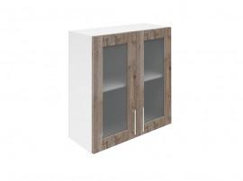 Горен шкаф за кухни с две витринни врати Хит М21 Дъб алатри 70 см.