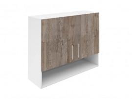 Горен шкаф за кухни с две врати и ниша Хит М22 Дъб алатри 90 см.