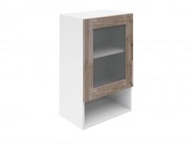 Горен шкаф за кухни с една витрина и ниша Хит М19 Дъб алатри 45 см.