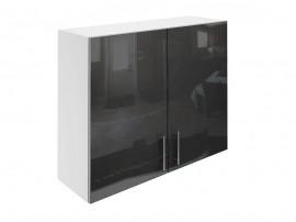 Горен шкаф за кухни с две врати МДФ Елит М20 Антрацид гланц 100 см.