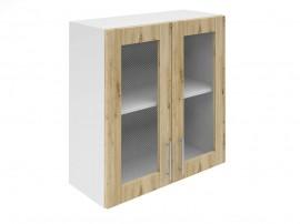 Горен шкаф за кухни с две витринни врати Хит М21 Артизан светъл 70 см.