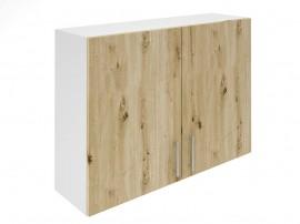 Горен шкаф за кухни с две врати Хит М20 Артизан светъл 100 см.