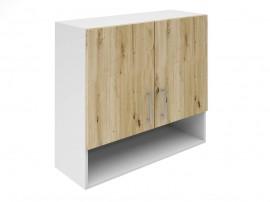 Горен шкаф за кухни с две врати и ниша Хит М22 Артизан светъл 80 см.