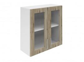 Горен шкаф за кухни с две витринни врати Хит М21 Артизан тъмен 70 см.