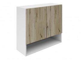 Горен шкаф за кухни с две врати и ниша Хит М22 Артизан тъмен 80 см.