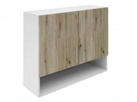 Горен шкаф за кухни с две врати и ниша Хит М22 Артизан тъмен 90 см.