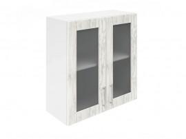 Горен шкаф за кухни с две витринни врати Хит М21  Бор сестола 70 см.