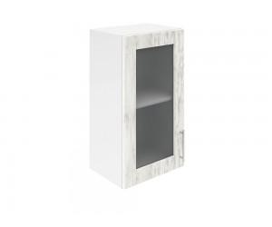 Горен шкаф за кухни с една витринна врата Хит М17  Бор сестола 45 см.