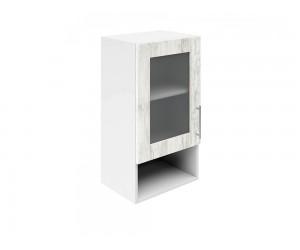 Горен шкаф за кухни с една витрина и ниша Хит М19  Бор сестола 40 см.