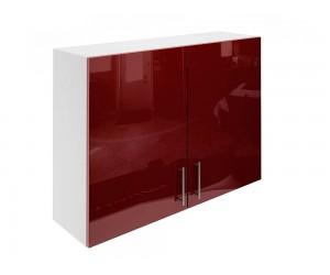 Горен шкаф за кухни с две врати МДФ Елит М20 Бордо гланц 100 см.