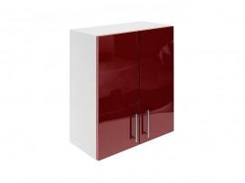 Горен шкаф за кухни с две врати МДФ Елит М20 Бордо гланц 60 см.