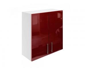 Горен шкаф за кухни с две врати МДФ Елит М20 Бордо гланц 70 см.