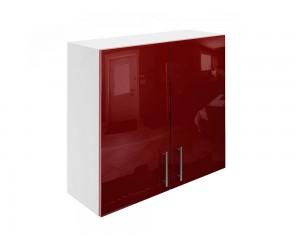 Горен шкаф за кухни с две врати МДФ Елит М20 Бордо гланц 80 см.