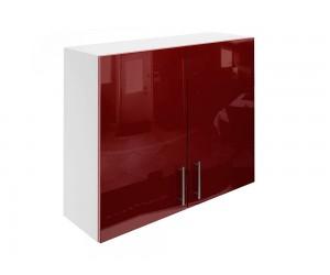 Горен шкаф за кухни с две врати МДФ Елит М20 Бордо гланц 90 см.