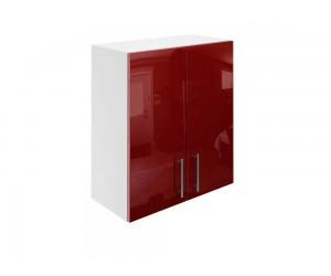 Горен кухненски шкаф за вграден аспиратор МДФ Елит М28 Бордо гланц 60 см.