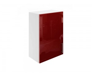 Горен шкаф за кухни с една врата МДФ Елит М16 Бордо гланц 50 см.