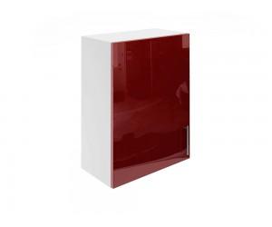 Горен шкаф за кухни с една врата МДФ Елит М16 Бордо гланц 55 см.