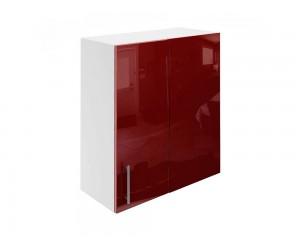 Горен ъглов шкаф за кухни МДФ Елит М27 Бордо гланц 65 см.