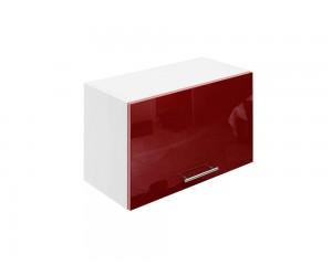 Горен шкаф за кухни с клапваща врата МДФ Елит М26 Бордо гланц 60 см.