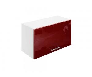 Горен шкаф за кухни с клапваща врата МДФ Елит М26 Бордо гланц 65 см.