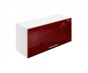 Горен шкаф за кухни с клапваща врата МДФ Елит М26 Бордо гланц 80 см.