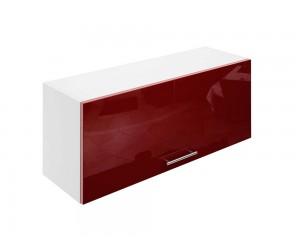 Горен шкаф за кухни с клапваща врата МДФ Елит М26 Бордо гланц 90 см.