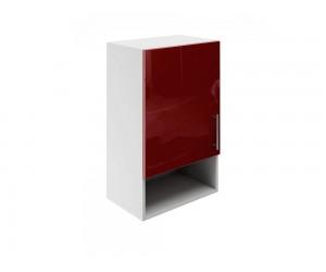 Горен шкаф за кухни с една врата и ниша МДФ Елит М18 Бордо гланц 45 см.