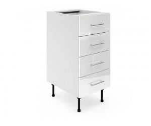 Долен шкаф за кухни МДФ Елит М5 Бяло гланц 40 см.