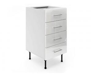 Долен шкаф за кухни МДФ Елит М5 Бяло гланц 45 см.