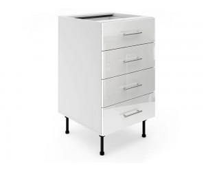 Долен шкаф за кухни МДФ Елит М5 Бяло гланц 50 см.