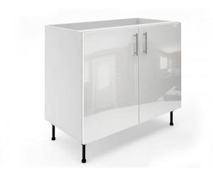 Долен шкаф за кухни МДФ Елит М6 Бяло гланц 100 см.