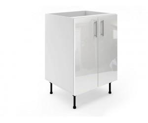 Долен шкаф за кухни МДФ Елит М6 Бяло гланц 60 см.
