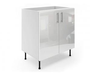 Долен шкаф за кухни МДФ Елит М6 Бяло гланц 80 см.