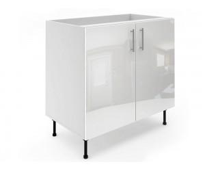 Долен шкаф за кухни МДФ Елит М6 Бяло гланц 90 см.