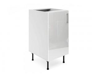Долен шкаф за кухни МДФ Елит М2 Бяло гланц 45 см.