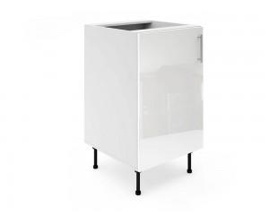 Долен шкаф за кухни МДФ Елит М2 Бяло гланц 50 см.