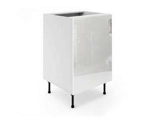 Долен шкаф за кухни МДФ Елит М2 Бяло гланц 55 см.