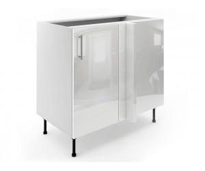 Долен ъглов шкаф за кухни МДФ Елит М7 Бяло гланц 100 см.
