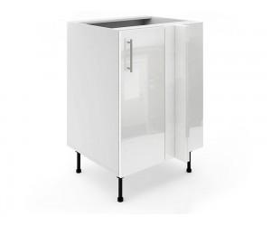 Долен ъглов шкаф за кухни МДФ Елит М8 Бяло гланц 60 см.
