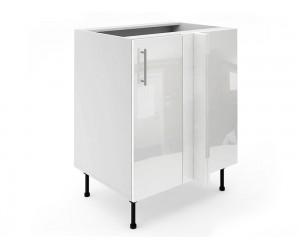 Долен ъглов шкаф за кухни МДФ Елит М8 Бяло гланц 70 см.