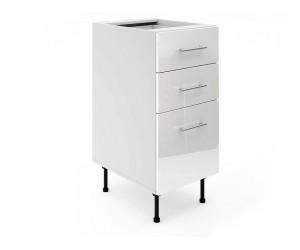 Долен шкаф за кухни МДФ Елит М4 Бяло гланц 40 см.