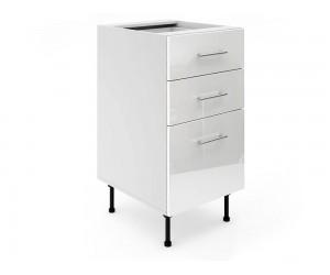 Долен шкаф за кухни МДФ Елит М4 Бяло гланц 45 см.