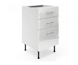 Долен шкаф за кухни МДФ Елит М4 Бяло гланц 50 см.