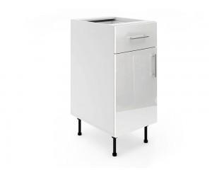 Долен шкаф за кухни МДФ Елит М3 Бяло гланц 40 см.