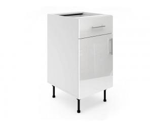 Долен шкаф за кухни МДФ Елит М3 Бяло гланц 45 см.