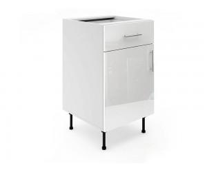 Долен шкаф за кухни МДФ Елит М3 Бяло гланц 50 см.