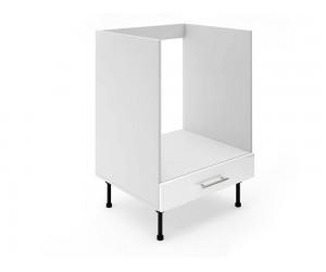Долен кухненски шкаф за вградена фурна МДФ Елит М9 Бяло гланц 60 см.