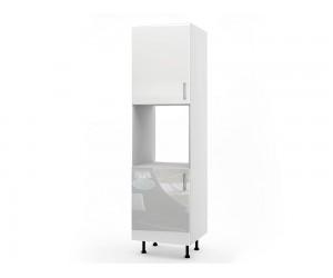 Колонен кухненски шкаф за вграждане на фурна МДФ Елит М12 Бяло гланц 60 см.