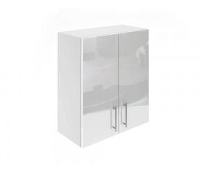 Горен шкаф за кухни с две врати МДФ Елит М20 Бяло гланц 60 см.